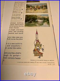 Vintage Disneyland Kodac Camera Pamphlet Map Guide (2) 1956 / 1963 Walt Disney