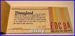 Vintage Disneyland Large Ride Ticket Book A-E Matching Serial #s Walt Disney