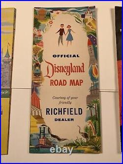 Vintage Disneyland Park Ride Pamphlet Brochure Origanal Walt Disney Map Guide