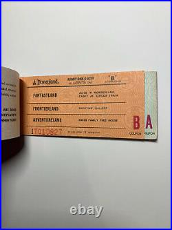 Vintage Disneyland Ride Ticket Coupon Book COMPLETE A-E Matching Serial Numbers