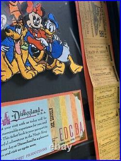 Vintage Disneyland Steamboat Railroad A-E With Large Ticket Book Walt Disney