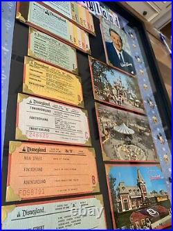 Vintage Disneyland Ticket Book Postcard Original Walt Disney Frames Mickey Mouse