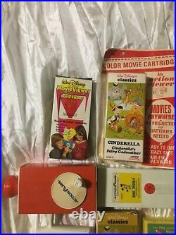 Vintage Fisher Price Movie Viewer, Action films, WALT DISNEY LOT Cinderella