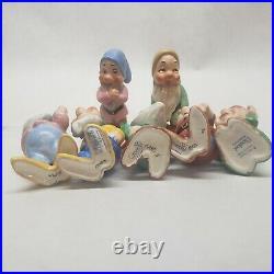 Vintage Goebel Walt Disney Snow White, Prince Charming 7 Seven Dwarfs Dwarves