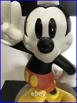 Vintage Large WALT DISNEY MICKEY MOUSE STATUE HEAVY 20 TALL FIGURE with 1928 BASE