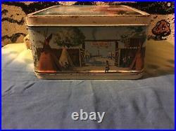 Vintage Metal Disneyland Lunch Box Aladdin Industries USA WaltDisney Productions