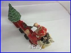 Vintage Mickey Mouse Santa Car # 1105 Lionel Corp Walt Disney Rare Wind Up 645