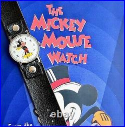 Vintage Mickey Mouse Watch INGERSOLL MOD Box + Papers Walt Disney Prod WORKING
