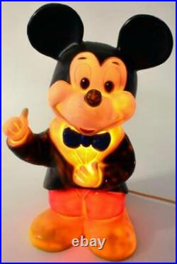 Vintage Micky Maus Lampe / Mickey Mouse lamp 37cm / 15 HEICO 1984