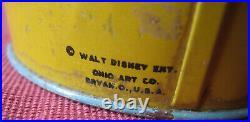 Vintage Ohio Art Tin Litho Walt Disney TREASURE ISLAND Sand Pail w Shovel