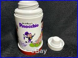 Vintage PINNOCHIO Lunch Box Aladdin Industries w Thermos 1971 Walt Disney MINT