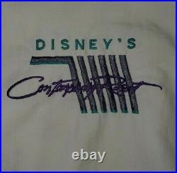 Vintage RARE Walt Disney World Contemporary Resort Windbreaker Sz M 1980s