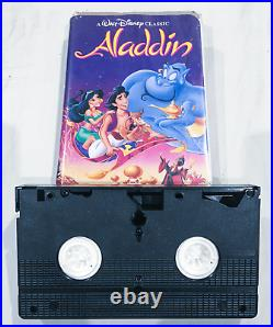 Vintage Rare Aladdin (VHS, 1993) Black Diamond #1662 Walt Disney Classic Original