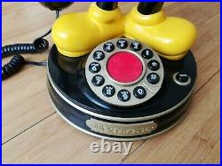 Vintage Rare Mybelle 805 Mickey Mouse Telephone Walt Disney No 0002