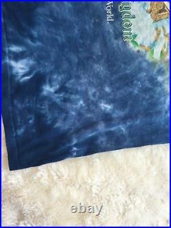 Vintage Splash Mountain Shirt Size L 90s Tie Dye Walt Disney World Rare