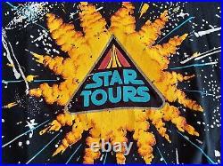 Vintage Star Wars T-Shirt Star Tours Walt Disney Gr. L Large
