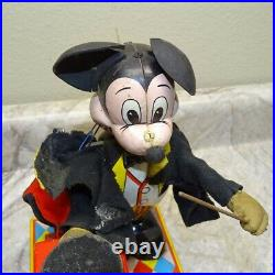 Vintage Tin Linemar Mickey the Magician Battery Operated Walt Disney Toy Parts