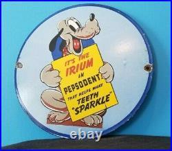 Vintage Toothpaste Porcelain Gas Oil Walt Disney Goofy Service Station Sign