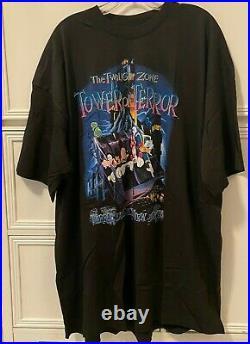 Vintage Tower of Terror Shirt Walt Disney World Twilight Zone 90s Rare NWT