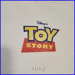 Vintage Toy Story Woody & Buzz You've Got A Friend In Me T Shirt Size XL