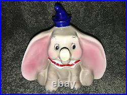 Vintage WALT DISNEY Old Fashioned DUMBO Piggy COIN BANK FIGURINE Collectible NEW