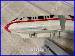 Vintage WALT DISNEY WORLD RED MONORAIL TRAIN & TRACK Complete! Works