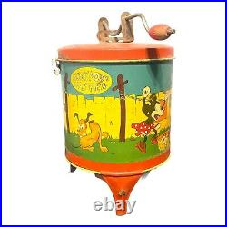 Vintage Walt Disney 1930s Mickey Mouse Lithograph Tin Washer Toy by Ohio Art