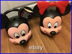 Vintage Walt Disney Aladdin Mickey and Minnie Lunch box heeds