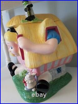 Vintage Walt Disney Alice In Wonderland White Rabbit House Cookie Jar