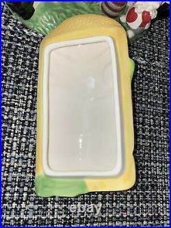 Vintage Walt Disney Alice In Wonderland White Rabbit House Cookie Jar Great Cond
