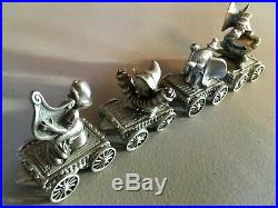 Vintage Walt Disney Hudson Fine Pewter 17pc Mickey's Music Band Train Set
