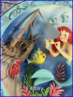 Vintage Walt Disney Little Mermaid 3D Plate Treasures Untold Little Mermaid