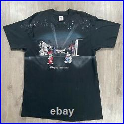 Vintage Walt Disney MGM Studios T-Shirt Mickey Minnie Mouse Mens Size XL Black