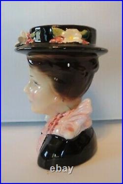 Vintage Walt Disney Mary Poppins Lady Head Vase Enesco Ceramic Planter