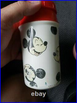 Vintage Walt Disney Mickey Mouse Head Lunch Box with Thermos Aladdin Industries