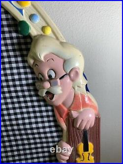 Vintage Walt Disney Mirror with Pinocchio Jiminy Cricket Geppetto Figaro Cleo