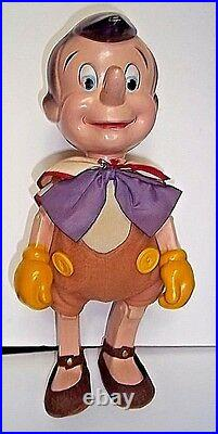 Vintage Walt Disney Pinocchio 14 Knickerbocker Toy Company 1930's Composition