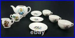 Vintage Walt Disney Productions Alice In Wonderland Toy China Tea Set Japan