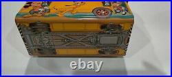 Vintage Walt Disney School Bus Lunchbox And Thermos