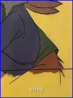 Vintage Walt Disney Studios Original Production Animation Cel Robin Hood 1973