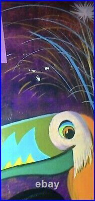 Vintage Walt Disney World Eastern Airlines Poster Original 30 x 40 Rolled 1970