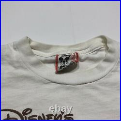 Vintage Walt Disney World Fort Wilderness Resort Mickey Mouse T Shirt Promo 90s