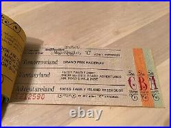 Vintage Walt Disney World Magic Kingdom Ticket Coupon Book A-E 8 Adventures Rare