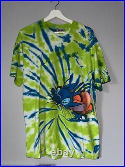 Vintage Walt Disney World Stitchs Great Escape Tie Dye T-Shirt Rare