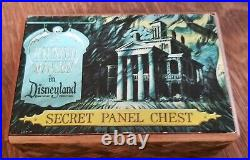 Vintage Walt Disney World The Haunted Mansion Secret Panel Chest Wooden SCARCE