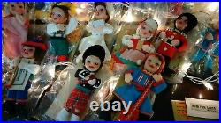 Vintage Walt Disney's It's A Small World Holiday Pixie Ornaments 24 Pixies