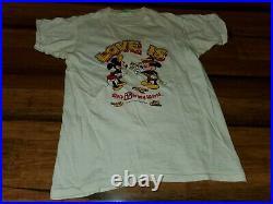 Vtg 1974 MICKEY & MINNIE MOUSE Love tee t-shirt (YXL) 70's Walt Disney World