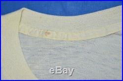 Vtg 80s MICKEY MOUSE WALT DISNEY CARTOON CHARACTER 2 SIDED YELLOW SOFT t-shirt M