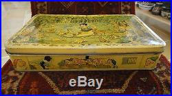 Vtg Belgian Candy Tin Box Container Walt Disney Snow White And The Seven Dwarfs