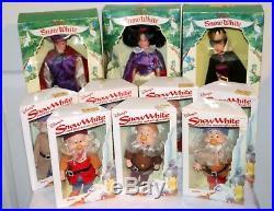 Vtg Bikin Walt Disney Snow White and the Seven Dwarfs Plus Evil Queen Set of 10
